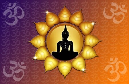 Om symbol and Buddha Stock Photo - 19094560