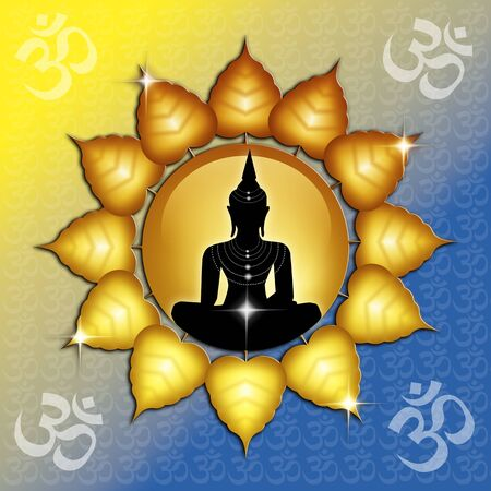 Om symbol and Buddha Stock Photo - 19094567