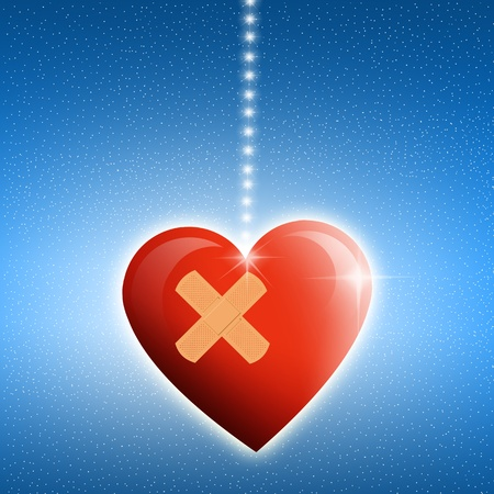 wounded heart: Love