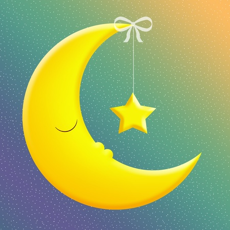star and crescent: Good Night