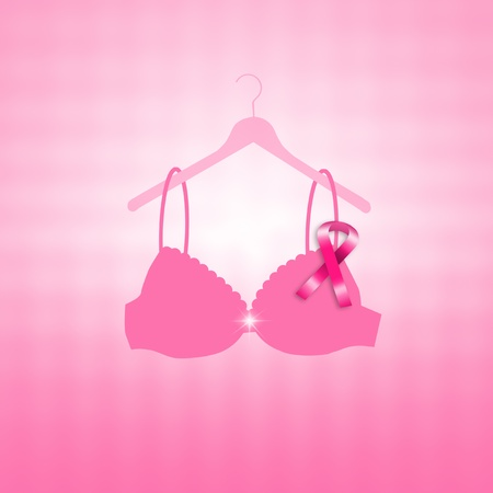 boobs: Breast cancer prevention with pink ribbon