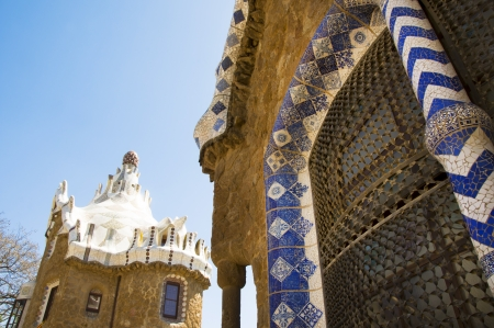 guell:  Parc Guell in Barcelona