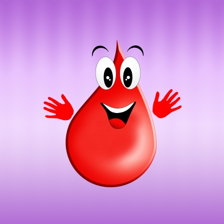 Blood donation with drop