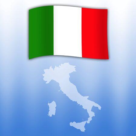 flag of Italy photo