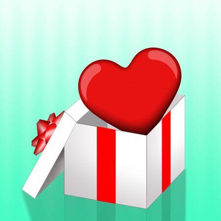 donacion de organos: La donaci�n de �rganos con el coraz�n en caja de regalo