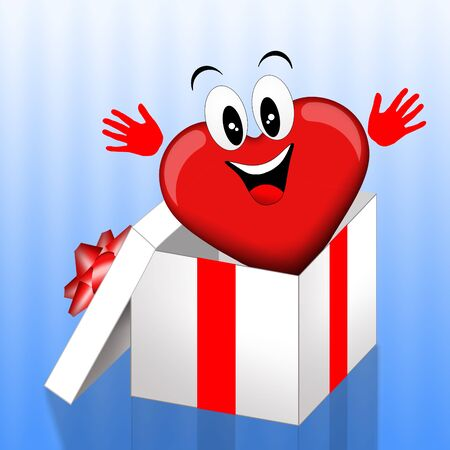 organ donation: Organ donation with heart in gift box