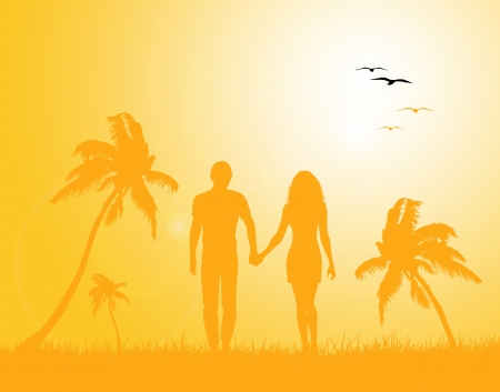 couple in summer background
