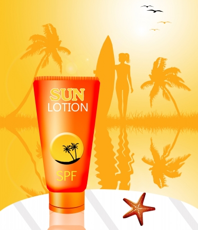 sun lotion: Sun lotion for tanning