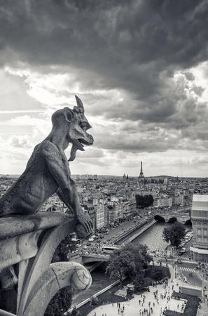 gargouilles: Gargouilles de Paris Banque d'images