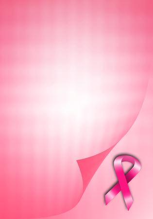 Breast cancer prevention with pink ribbon photo