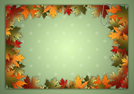 autumn background with leaves photo