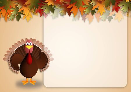 illustration of a turkey for Thanksgiving illustration