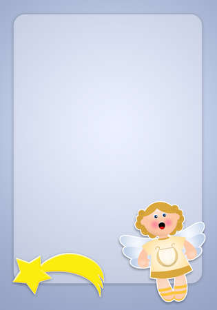 archangel: Angel for Christmas Stock Photo