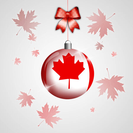 Christmas ball with Canada photo
