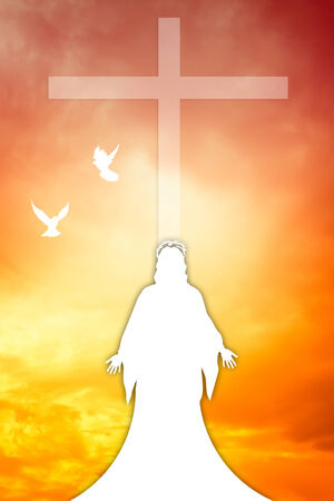 jesus clouds: Jesus Christ