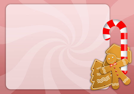 gingerbreadman: Christmas menu with biscuits