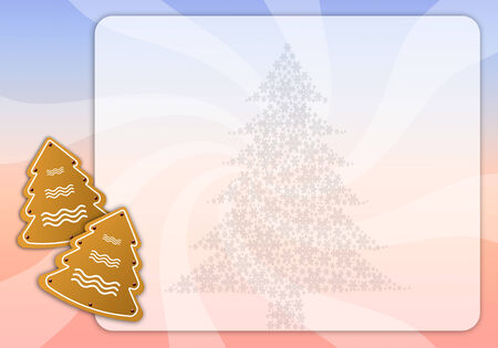 Christmas menu with biscuits photo