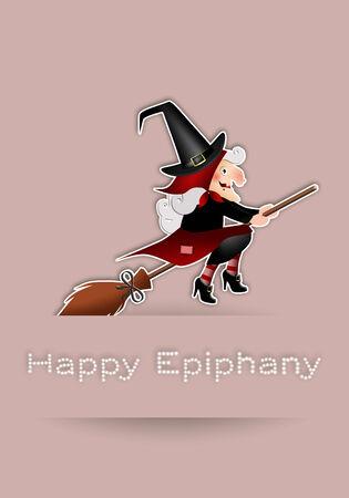 illustration of Epiphany on broom