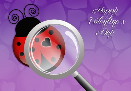 Ladybug with heart for Valentines Day photo