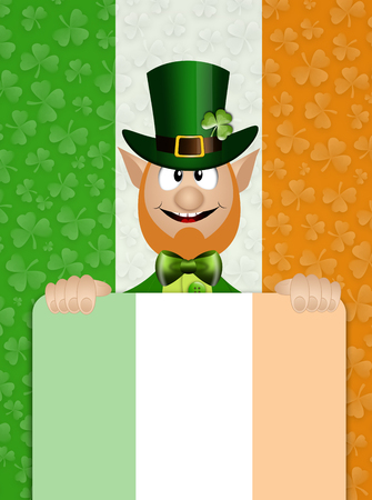 saint paddy's: St  Patrick Day with Ireand flag Stock Photo
