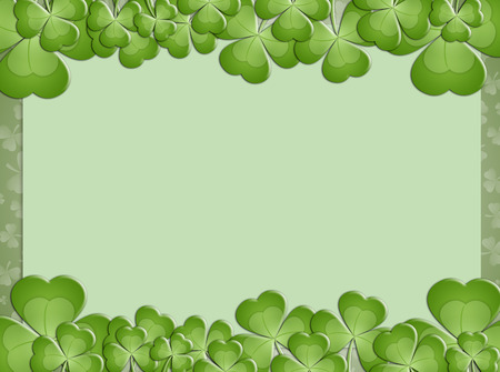 st paddy s day: clover background for St  Patrick Stock Photo