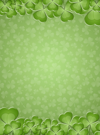 saint paddy's: clovers background for St  Patricks Day
