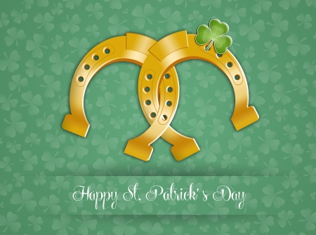 st paddy s day: Horseshoe for Happy St  Patrick