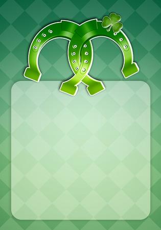 saint paddy's: Horseshoe for Happy St  Patrick