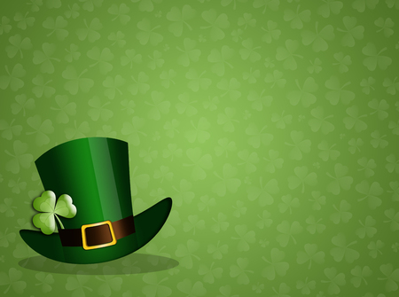 saint paddy's: green hat for St  Patricks Day