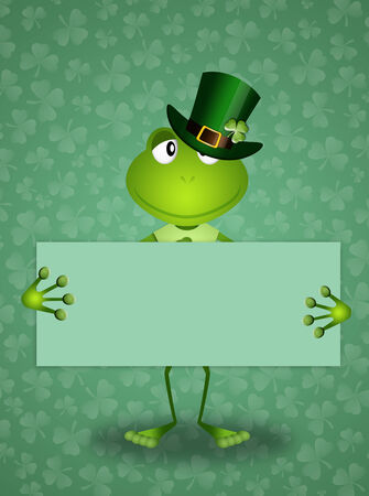 saint paddy's: Green frog in St Patrick