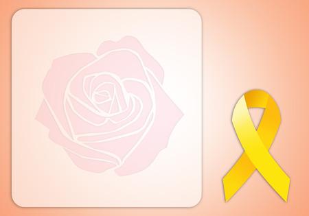 endometrium: Yellow ribbon for Endometriosis