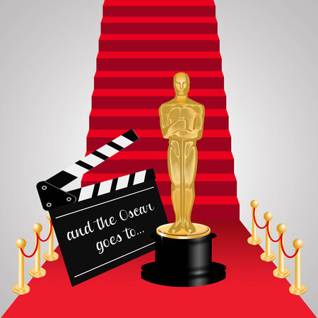 statuette: Red carpet Stock Photo