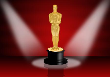 star award: Oscars statuette Stock Photo
