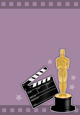 statuette: Oscars award with film  Stock Photo