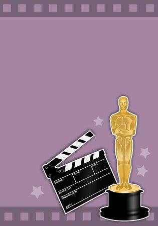academy awards: Oscars award with film  Stock Photo