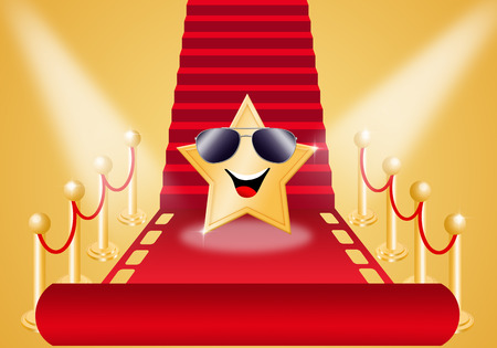 Star on Red carpet for Oscars award Stock Photo - 25888763