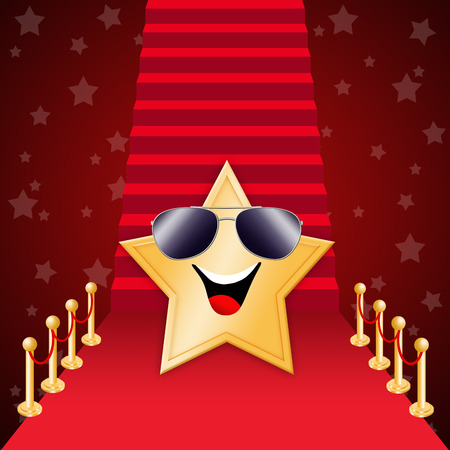 Star on Red carpet  Stock Photo