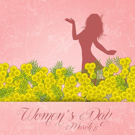 Flor de mimosa para el Día de la Mujer Foto de archivo - 26153409