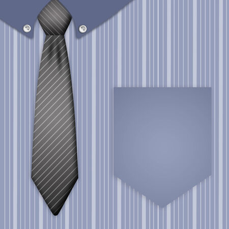 Illustration of tie and shirt for Father illustration