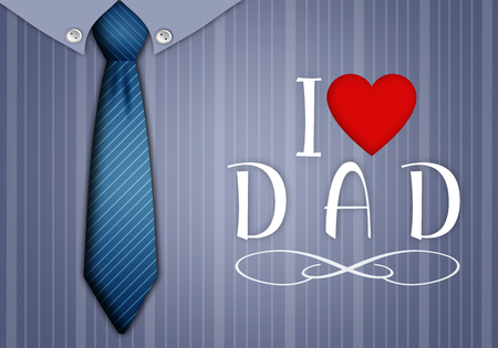 Illustration of tie and shirt for Father Day illustration