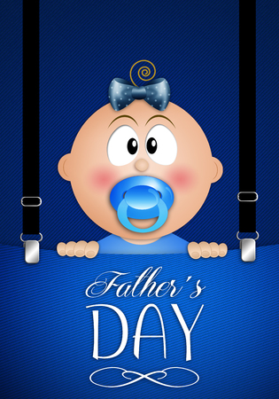 suspenders: Child in jeans pocket for Father day