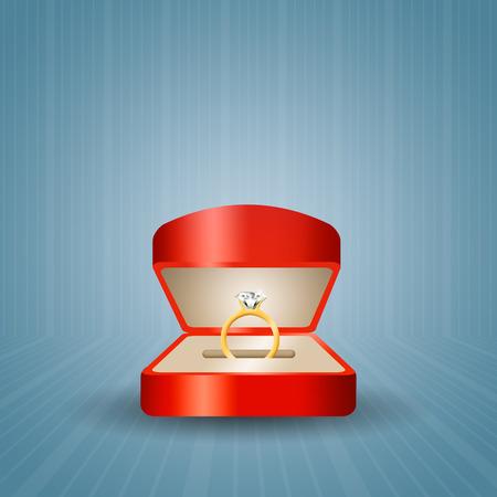 anillo de compromiso: Propuesta con Anillo de compromiso Foto de archivo