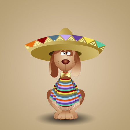 musca: Mexican dog with sombrero
