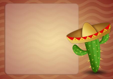 musca: cactus with sombrero Stock Photo