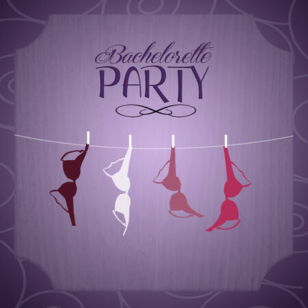 bachelorette: Bachelorette party invitation Stock Photo
