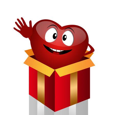 organ donation: Funny heart for organ donation