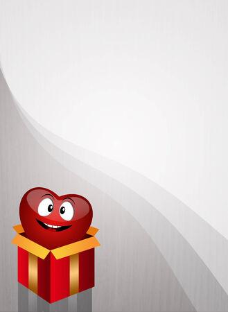 donacion de organos: Coraz�n en caja de regalo para la donaci�n de �rganos
