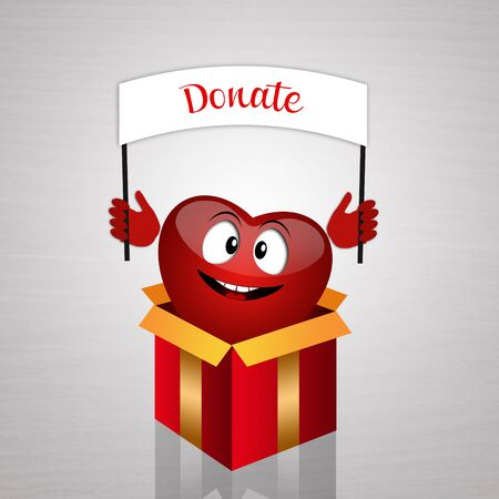 donacion de organos: Coraz�n divertido de la donaci�n de �rganos