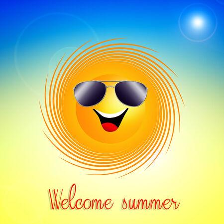 Funny sun for summertime