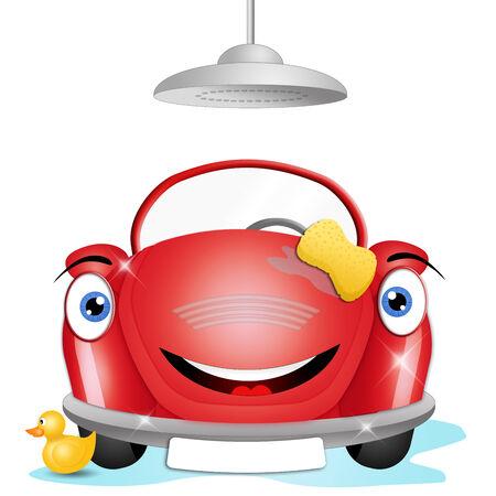 illustration of car washing illustration